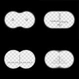 Fernglasblickfeld mit unterschiedlichem Fadenkreuzvektorsatz Lizenzfreies Stockbild