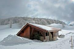 Fernhütte. lizenzfreie stockbilder