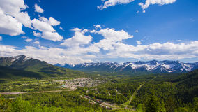 Fernie in British Columbia during the Summer. The town of Fernie, in British Columbia, Canada, during the Summer Time royalty free stock image