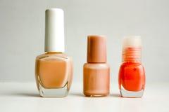 Fernissa för spikar olik färg och form Arkivbilder
