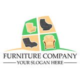 Ferniture company logo design Royalty Free Stock Image