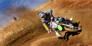 Fernley SandBox Dirt Bike Racer #5 Arkivfoto