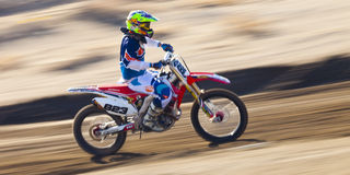 Fernley SandBox Dirt Bike Racer #823 Arkivbilder