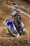 Fernley SandBox Dirt Bike Racer Corner Turn Royalty Free Stock Photo