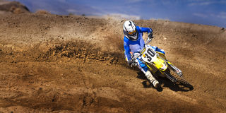 Fernley SandBox Dirt Bike Racer #30 Cornering Royalty Free Stock Photo