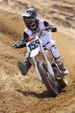 Fernley SandBox Dirt Bike Racer #155 Cornering Royalty Free Stock Image