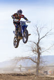 Fernley SandBox Dirt Bike Racer Jumping Royalty Free Stock Photo