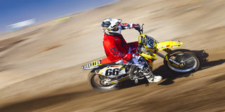 Fernley SandBox Dirt Bike Racer #66 Royalty Free Stock Image