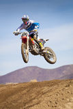 Fernley SandBox Dirt Bike Racer-Sprong Stock Foto's