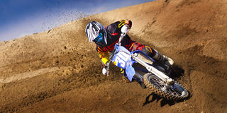 Fernley SandBox Dirt Bike Racer #30 Turn Royalty Free Stock Photo