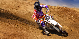 Fernley SandBox Dirt Bike Racer #155 Turn Stock Images