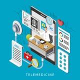 Fernmedizin-Konzept lizenzfreie abbildung
