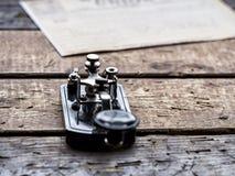 Fernschreiber - Morsealphabet Stockbild