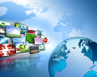 Fernseh- und Internet-Fertigungstechnikkonzept Stockbilder