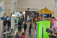 Fernseh- und Radio-internationale Messe in Kiew, Ukraine Stockbild
