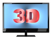 Fernsehapparat 3d Lizenzfreie Stockfotos
