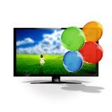 Fernsehapparat 3D Stockbilder