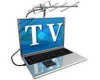 Fernsehapparat auf dem Internet lizenzfreie abbildung