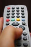 Fernsehapparat Fernsteuerungs Stockfotografie