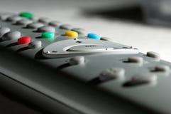 Fernsehapparat Fernsteuerungs stockfotos