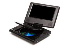 Fernsehapparat mit einem DVD-Spieler Stockfoto