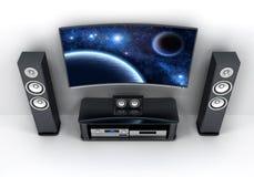 Fernsehapparat und Stereoanlage Lizenzfreie Stockfotos