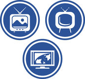 Fernsehapparat - Vektorikonen Stockfoto