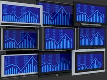 Fernsehbildschirme Stockfotos