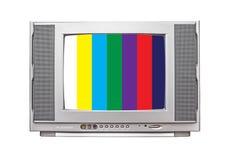 Fernsehen auf lokalisiertem Hintergrund Stockbilder