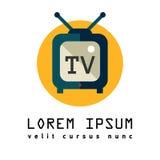Fernsehen Flache Ikone des Fernsehens bildschirmanzeige stock abbildung