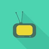 Fernsehen flaches icon2 Stockfotografie