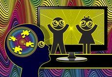 Fernsehen macht Kinder dumm stock abbildung