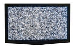Fernsehen mit Kabel heraus stockbilder
