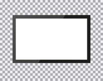 Fernsehen, moderner leerer Bildschirm lcd, auf Isolathintergrund, stilvolle Illustration EPS10 geführt lizenzfreie abbildung