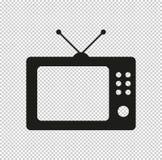 Fernsehen - schwarze Vektorikone stockbilder