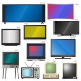 Fernsehen sortiert Vektorillustration aus stock abbildung