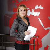 Fernsehenmanager und -reporter Stockfotografie