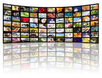 Fernsehenproduktionskonzept. Fernsehfilmpanels Lizenzfreie Stockbilder