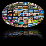 Fernsehenproduktionstechnologie Stockfoto