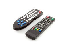 Fernsehfernbedienung auf weißem Hintergrund Stockfoto