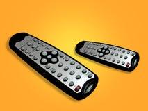 Fernsehfernbedienungen Lizenzfreies Stockbild