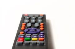 Fernsehfernbedienungsnahaufnahme Stockfoto
