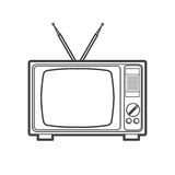 Fernsehikonendesign, Illustration Stockbilder