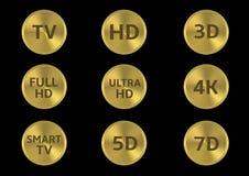 Fernsehikonensatz Lizenzfreies Stockfoto