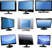 Fernsehikonenset Lizenzfreies Stockfoto