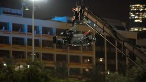 Fernsehkamerasendung während des Livekonzerts, 120fps stock footage