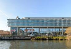 Fernsehkanalhauptsitz Arte in Straßburg lizenzfreie stockfotos