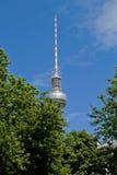 Fernsehkontrollturm in Berlin Stockbilder