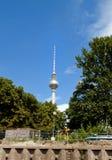 Fernsehkontrollturm in Berlin Stockfotografie