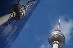 Fernsehkontrollturm in Berlin Stockbild